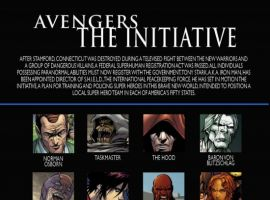 AVENGERS: THE INITIATIVE #27, intro page