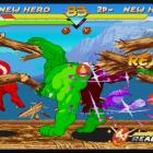 Screenshot of Captain America vs. Hulk in Marvel vs. Capcom Origins