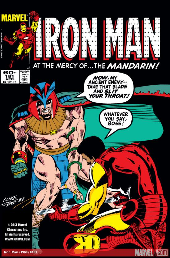 Iron Man (1968) #181 Cover