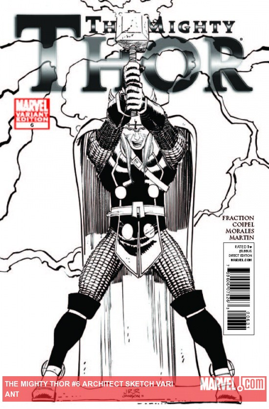 THE MIGHTY THOR 6 ARCHITECT SKETCH VARIANT