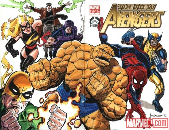 New Avengers #1 cover by Alex Saviuk