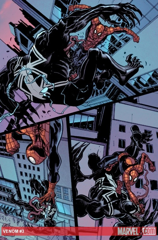 Venom (2011) #3 preview art by Tom Fowler