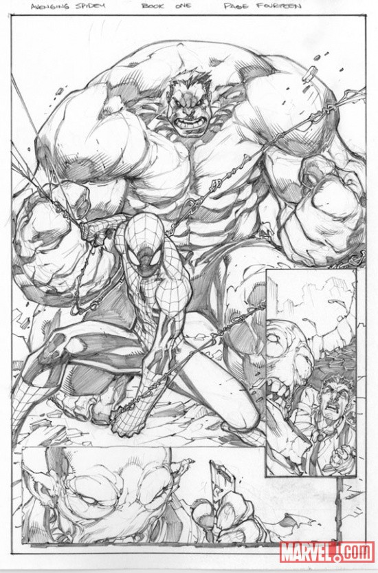 Avenging Spider-Man preview art by Joe Madureira