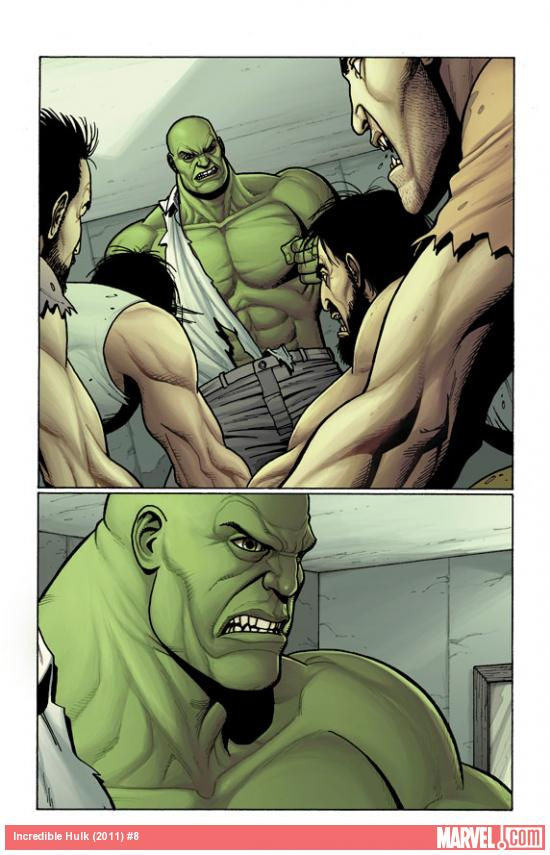 Incredible Hulk (2011) #8 preview art by Steve Dillon