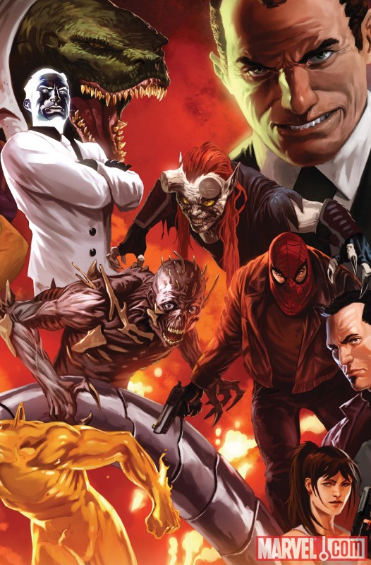 Image Featuring Norman Osborn, Lizard, Freak, Menace