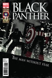 Black Panther: The Man Without Fear (2010) #516 (CAPTAIN AMERICA 70TH ANNIVERSARY VARIANT)