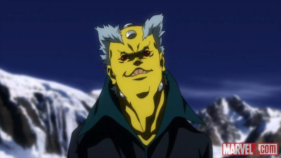 Screenshot of Rat from the X-Men anime