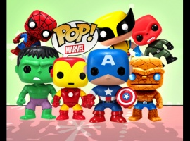 Pop! Heroes bobble-heads from Funko