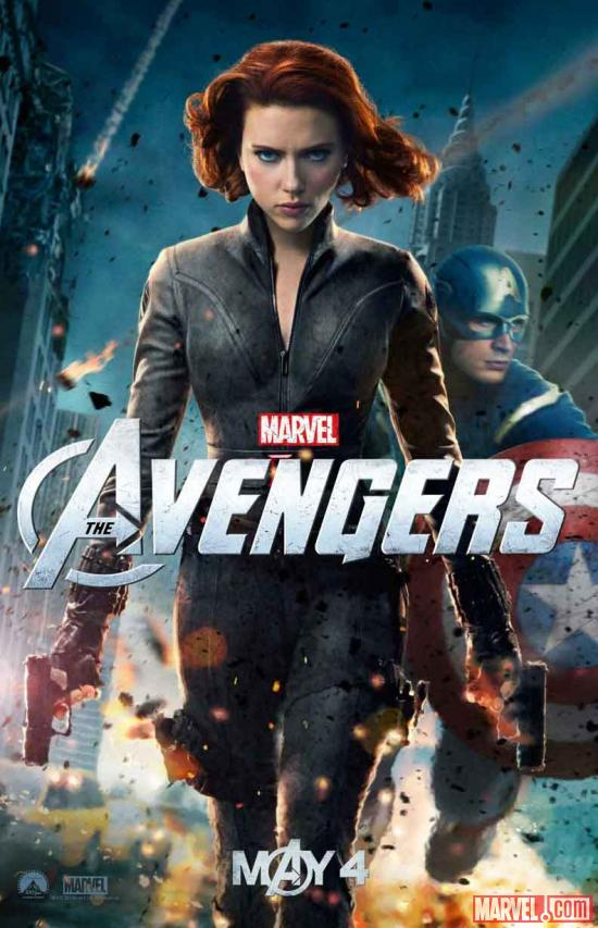 New Marvel's The Avengers poster featuring Black Widow &amp; Captain America