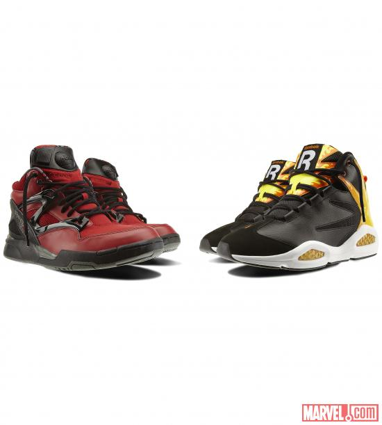 Deadpool and Chamber Sneakers from Reebok