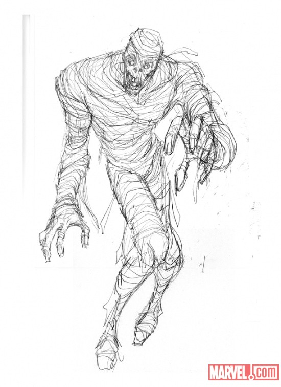 Living Mummy sketch by Juan Doe