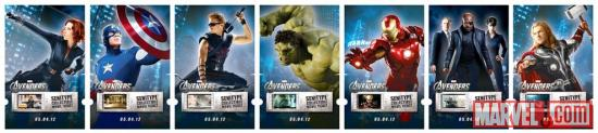 Marvel's The Avengers collectible movie tickets from Senitype
