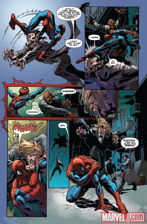 SPIDER-MAN VS. VAMPIRES #1 preview page by Roberto Castro