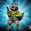 Alternate Rocket Raccoon skin from the Animal DLC pack for Ultimate Marvel vs. Capcom 3