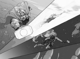 Thor: God of Thunder #1 preview inks by Esad Ribic