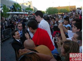 Tobey Maguire meets the fans