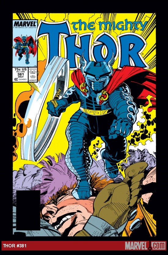 Thor #381 cover by Walter Simonson