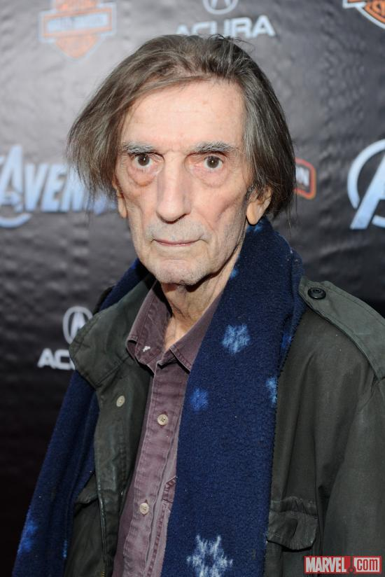 Harry Dean Stanton on the Avengers red carpet