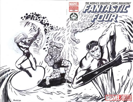 Fantastic Four #600 Hero Initiative variant cover by Marc Paniccia