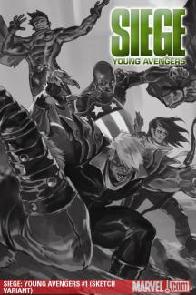 Siege: Young Avengers #1  (SKETCH VARIANT)