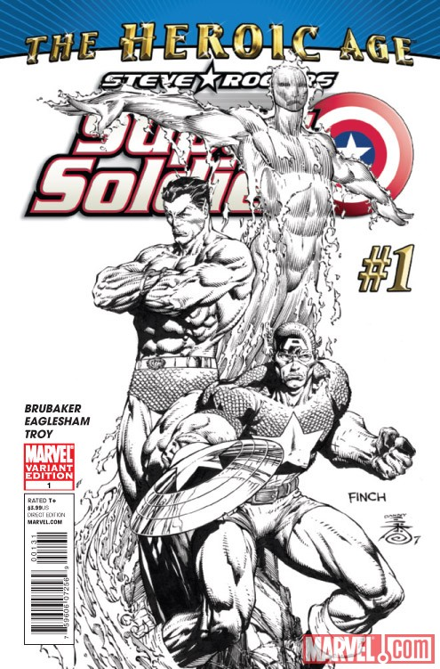 STEVE ROGERS: SUPER-SOLDIER #1 sketch variant cover by David Finch
