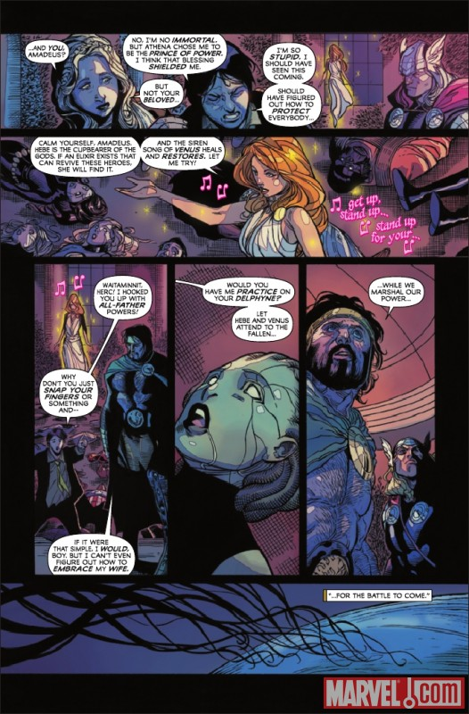 Image Featuring Thor, Venus (Siren), Amadeus Cho
