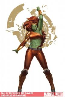 Fall of the Hulks: The Savage She-Hulks (2010) #1 (VARIANT)