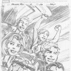 Fantastic Four (2012) #2 preview pencils by Mark Bagley