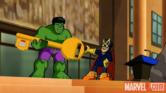 Hulk and the Mayor in The Super Hero Squad Show