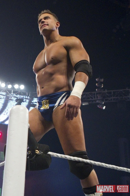 Alex Riley surveys the crowd