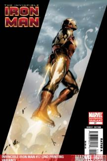 Invincible Iron Man (2008) #17 (2ND PRINTING VARIANT)