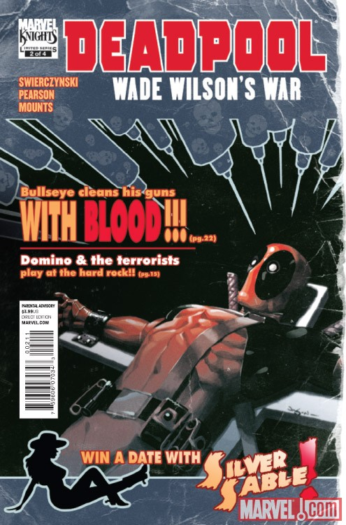 DEADPOOL: WADE WILSON'S WAR #2 cover by Jason Pearson