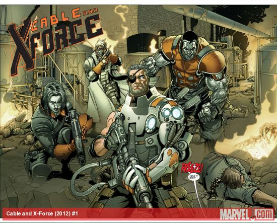 Cable &amp; X-Force #1 preview art by Salvador Larroca