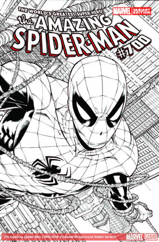 AMAZING SPIDER-MAN 700 QUESADA WRAPAROUND SKETCH VARIANT