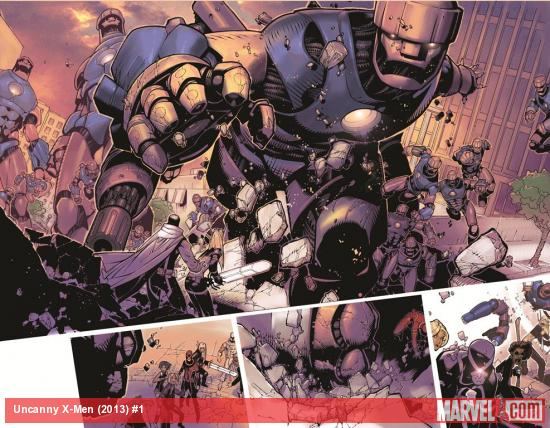 Uncanny X-Men (2013) #1 preview art by Chris Bachalo