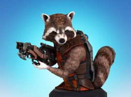 Rocket Raccoon SDCC 2014 Mini Bust