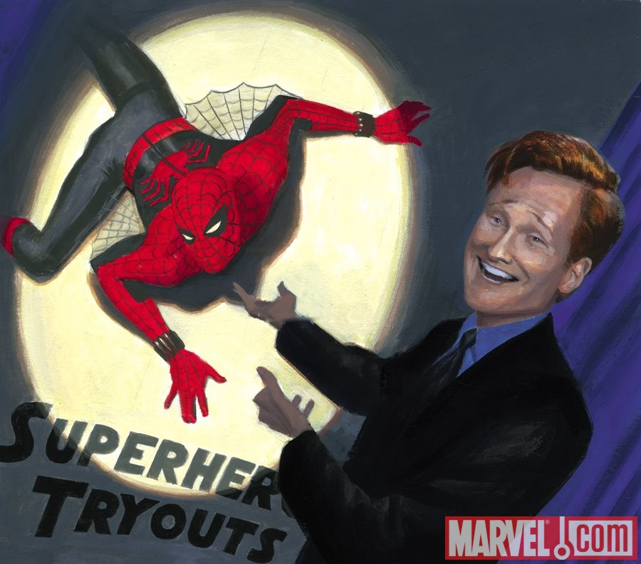 Conan O'Brien and Spider-Man from MYTHOS: SPIDER-MAN
