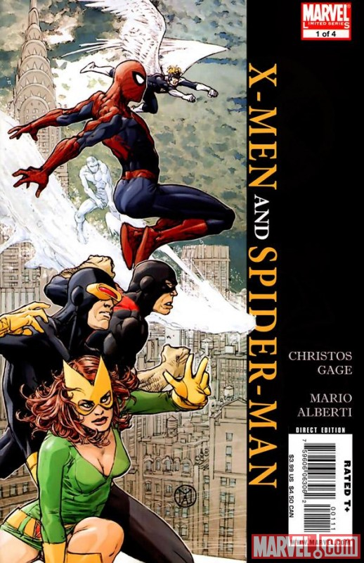 Image Featuring Jean Grey, Iceman, Spider-Man, X-Men, Archangel, Beast