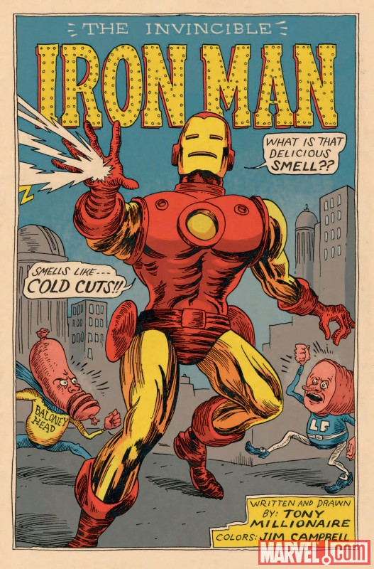 Iron Man by Tony Millionaire