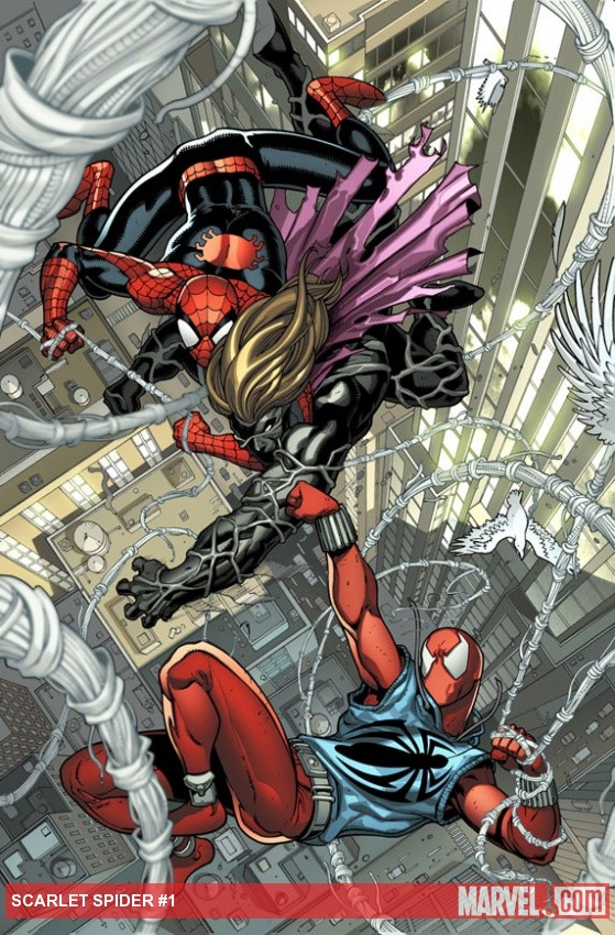 Scarlet Spider #1 preview art by Ryan Stegman