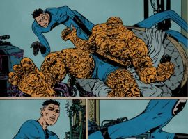 FF/Spidey art by Paul Pope from FANTASTIC FOUR #543