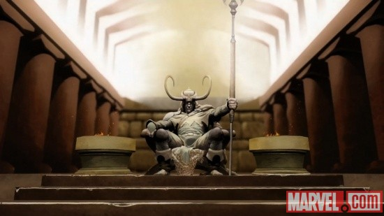 Loki claims the throne in Thor & Loki: Blood Brothers