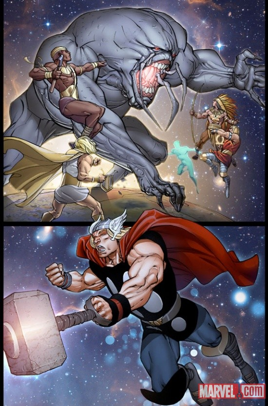 The Mighty Thor #9 Preview Art by Pasqual Ferry & Pepe Larraz