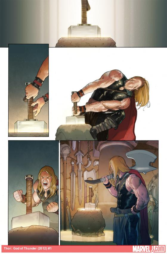 Thor: God of Thunder preview art by Esad Ribic