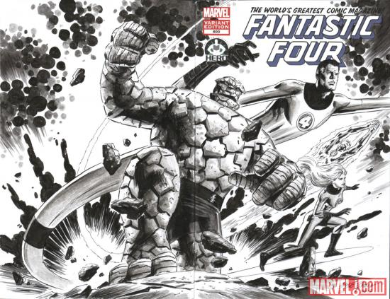 Fantastic Four #600 Hero Initiative variant cover by Steve Epting