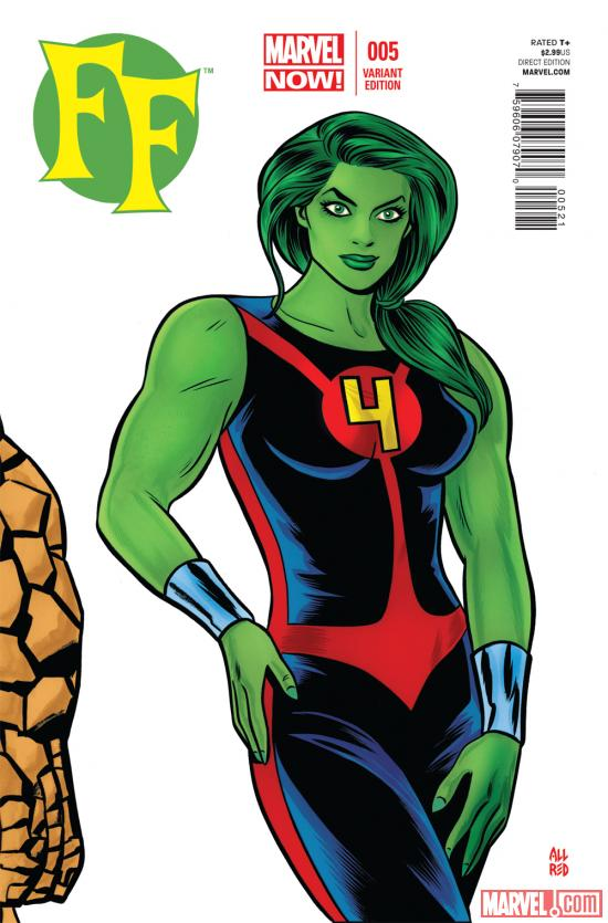 FF (2012) #5 variant cover by Mike Allred