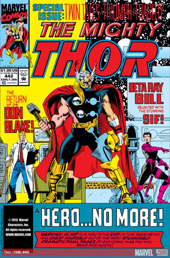 Thor (1966) #442 Cover