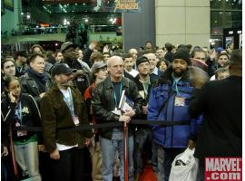 The crowd at the Marvel booth