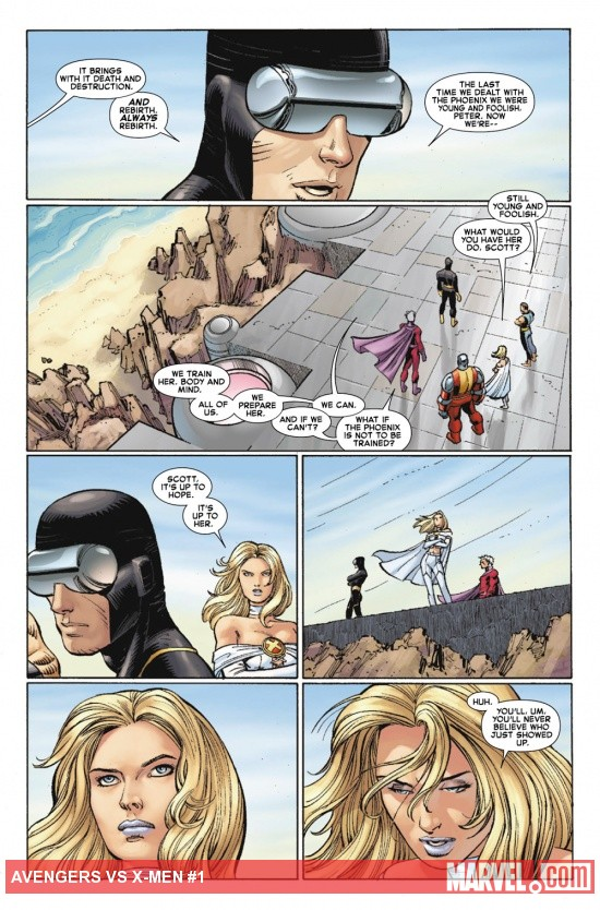 Avengers Vs. X-Men #1 preview art by John Romita Jr.
