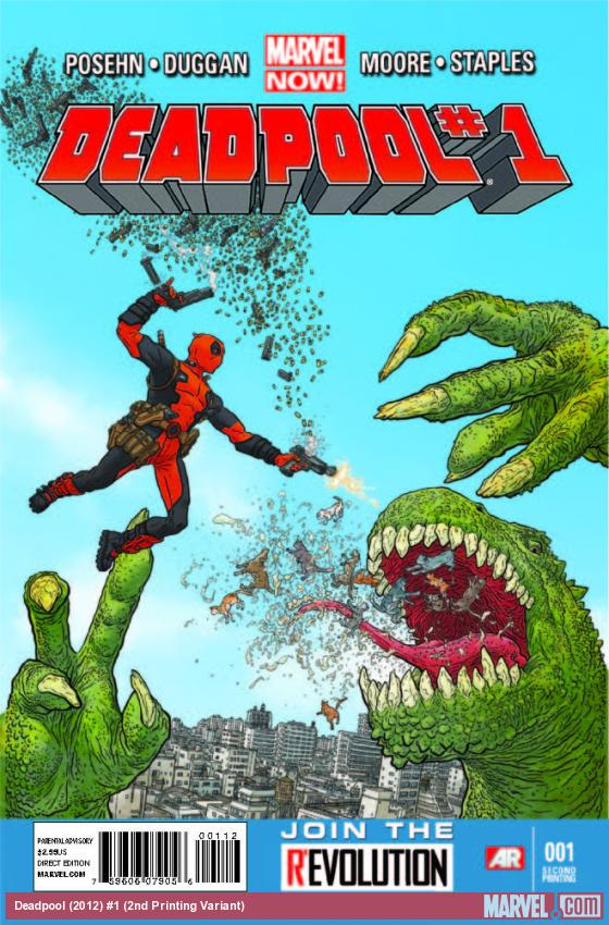 DEADPOOL 1 2ND PRINTING VARIANT (NOW)